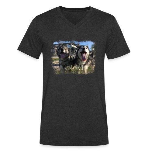 Voll toll - Männer Bio-T-Shirt mit V-Ausschnitt von Stanley & Stella
