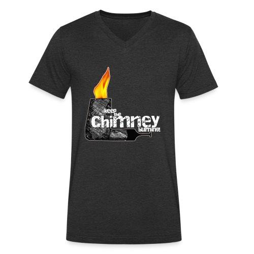 Keep the Chimney burning! - Männer Bio-T-Shirt mit V-Ausschnitt von Stanley & Stella