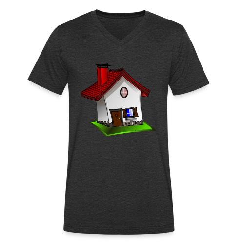 Haus - Männer Bio-T-Shirt mit V-Ausschnitt von Stanley & Stella