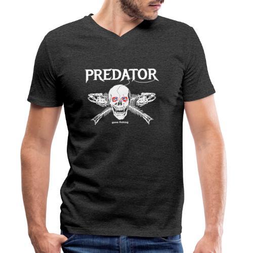 gone fishing norge - Männer Bio-T-Shirt mit V-Ausschnitt von Stanley & Stella