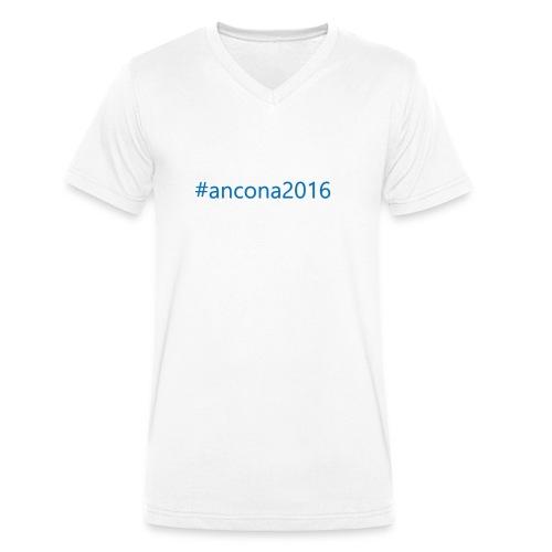#ancona2016 - Camiseta ecológica hombre con cuello de pico de Stanley & Stella