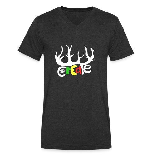 create white - Männer Bio-T-Shirt mit V-Ausschnitt von Stanley & Stella