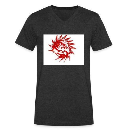 A RED SUN - Men's Organic V-Neck T-Shirt by Stanley & Stella