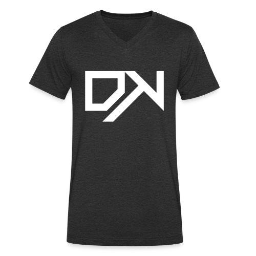 DewKee Logo Cap White - Men's Organic V-Neck T-Shirt by Stanley & Stella