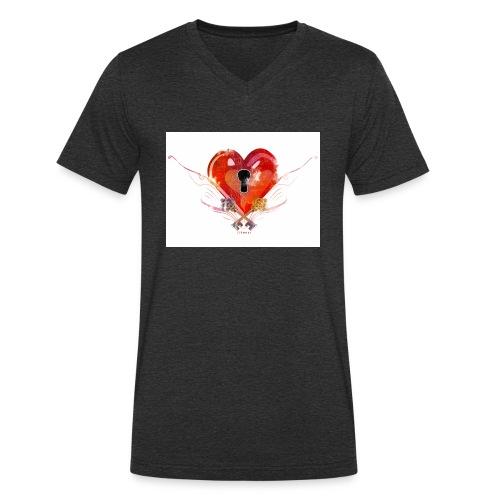 stvalentinmotif2 - T-shirt bio col V Stanley & Stella Homme