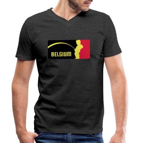 Mannekke Pis, Belgium Rode duivels - Belgium - Bel - T-shirt bio col V Stanley & Stella Homme