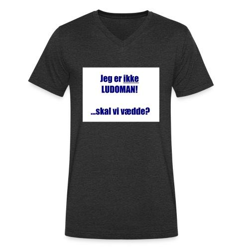 Ludoman_DK-jpg - Men's Organic V-Neck T-Shirt by Stanley & Stella