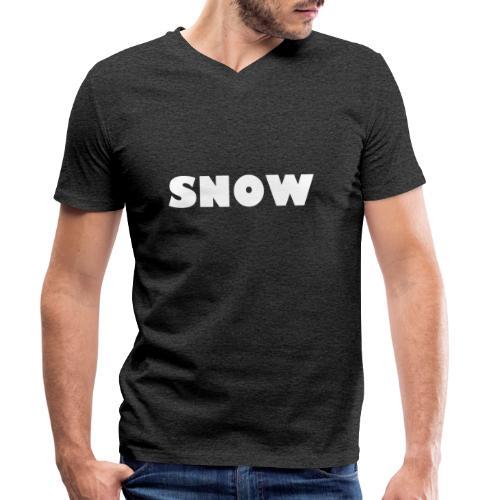 SNOW - Männer Bio-T-Shirt mit V-Ausschnitt von Stanley & Stella