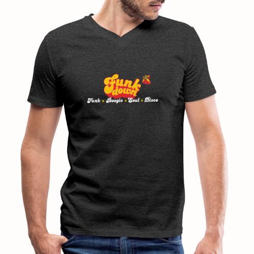FunkDown Official Merchandise (med genrer) - Økologisk Stanley & Stella T-shirt med V-udskæring til herrer