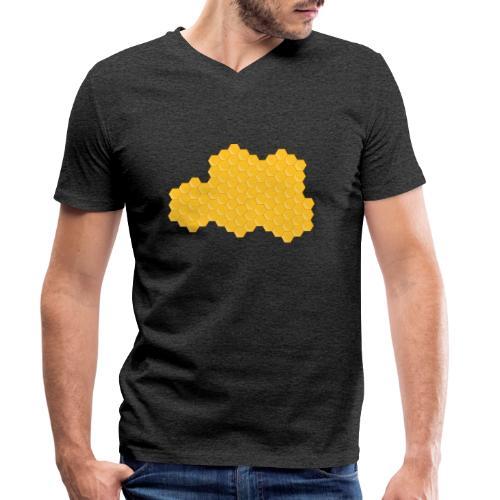 Bienenwabe - Männer Bio-T-Shirt mit V-Ausschnitt von Stanley & Stella