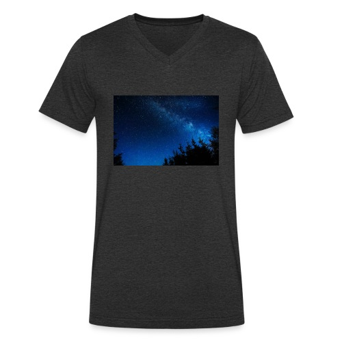 sterrenhemel afdruk/print - Mannen bio T-shirt met V-hals van Stanley & Stella