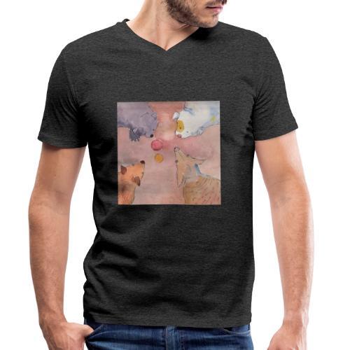 who Gets the Ball - Økologisk Stanley & Stella T-shirt med V-udskæring til herrer