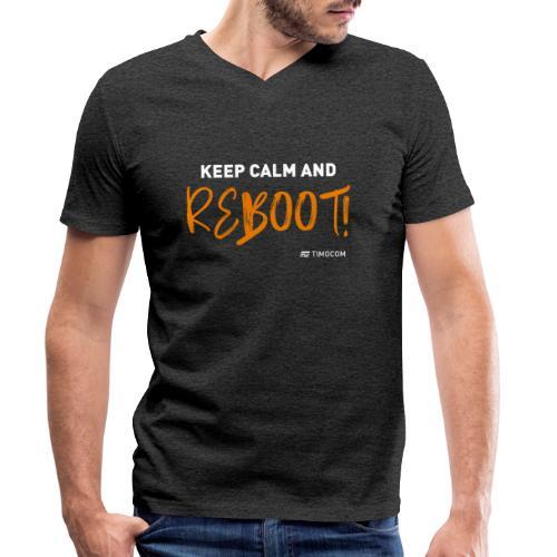 Reboot - Økologisk Stanley & Stella T-shirt med V-udskæring til herrer