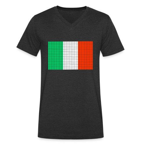 italian flag - T-shirt ecologica da uomo con scollo a V di Stanley & Stella