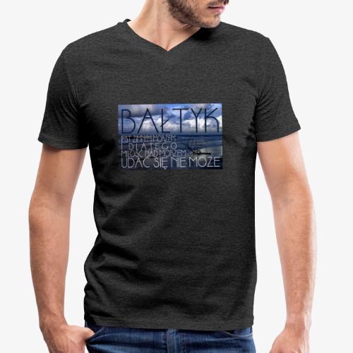 Bałtyk - Ekologiczna koszulka męska z dekoltem w serek Stanley & Stella