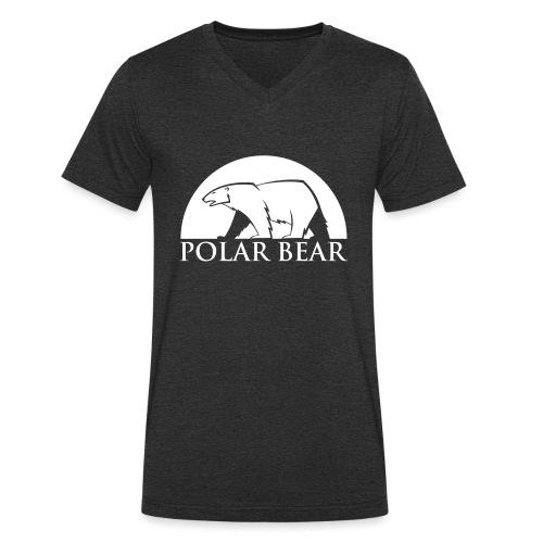 Polar Bear blanc - T-shirt bio col V Stanley & Stella Homme