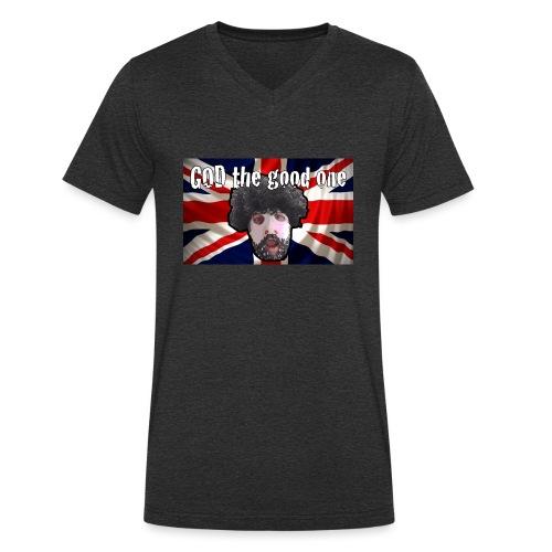 God the good one union Jack - Men's Organic V-Neck T-Shirt by Stanley & Stella