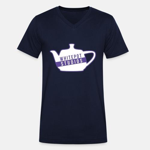 Whitepot Studios Logo - Men's Organic V-Neck T-Shirt by Stanley & Stella