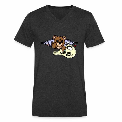 Bärchen Nähmaschine Coming Soon - Männer Bio-T-Shirt mit V-Ausschnitt von Stanley & Stella