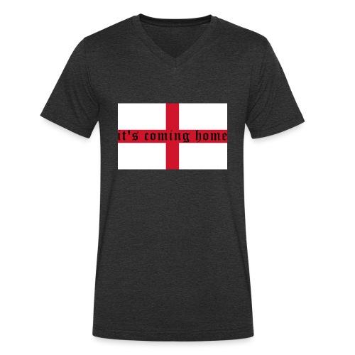 England 21.1 - Männer Bio-T-Shirt mit V-Ausschnitt von Stanley & Stella