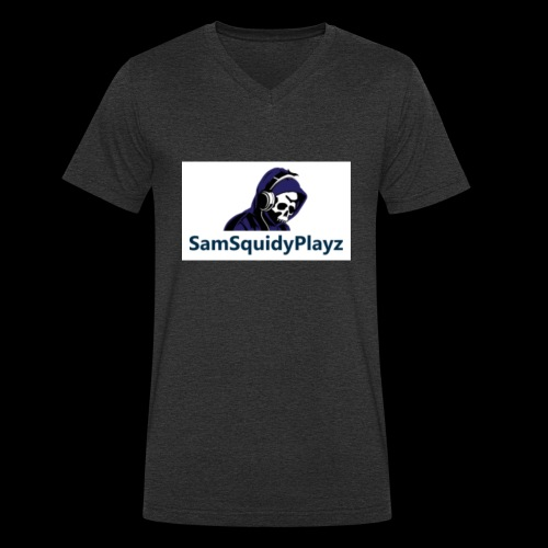SamSquidyplayz skeleton - Men's Organic V-Neck T-Shirt by Stanley & Stella