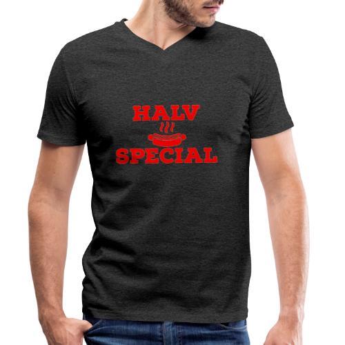 Halv special - Ekologisk T-shirt med V-ringning herr från Stanley & Stella