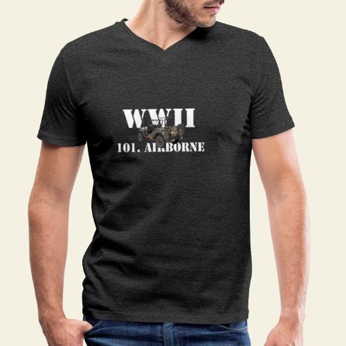101 airborne png - Økologisk Stanley & Stella T-shirt med V-udskæring til herrer