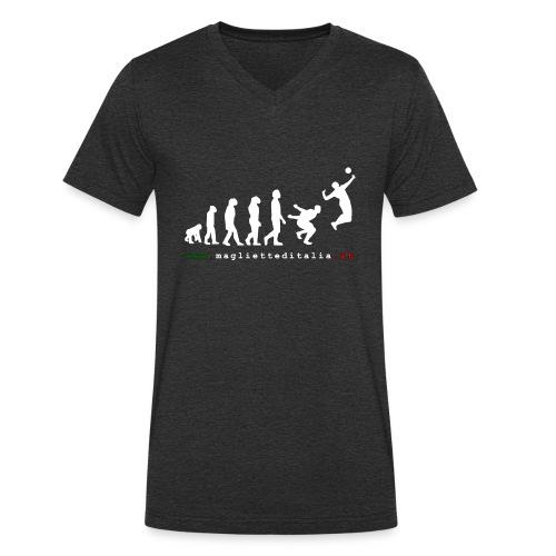 evolution volley attack w new - T-shirt ecologica da uomo con scollo a V di Stanley & Stella