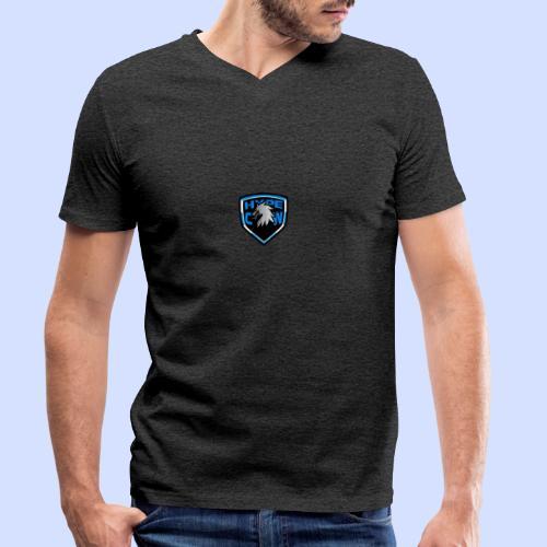 HypeCw logo (Silver) - Men's Organic V-Neck T-Shirt by Stanley & Stella