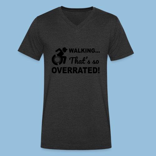Walkingoverrated2 - Mannen bio T-shirt met V-hals van Stanley & Stella