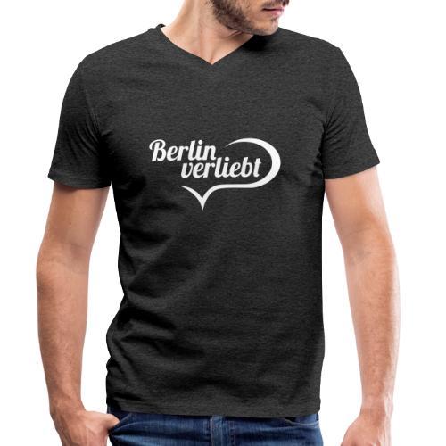 Berlin verliebt - Männer Bio-T-Shirt mit V-Ausschnitt von Stanley & Stella