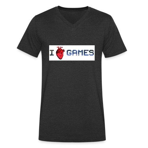 i_love_games-jpg - T-shirt ecologica da uomo con scollo a V di Stanley & Stella