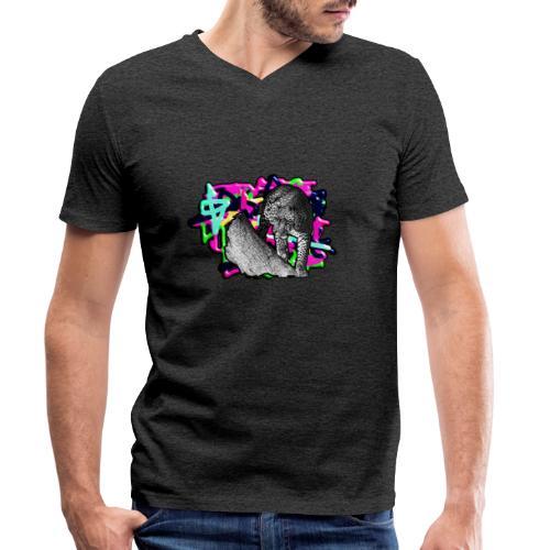 Leopard auf Bunt - Männer Bio-T-Shirt mit V-Ausschnitt von Stanley & Stella