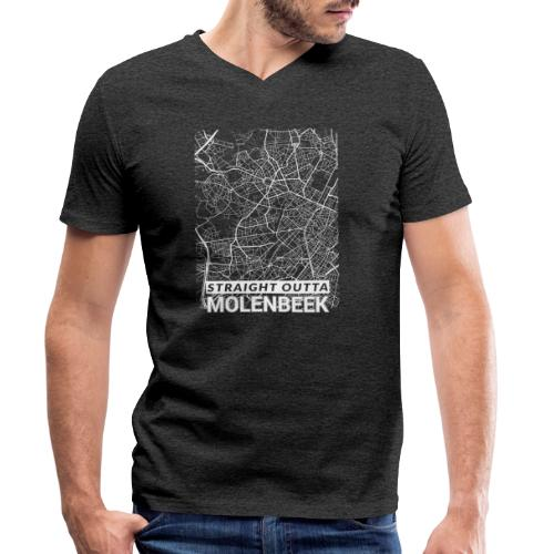 Straight Outta Molenbeek city map and streets - Men's Organic V-Neck T-Shirt by Stanley & Stella