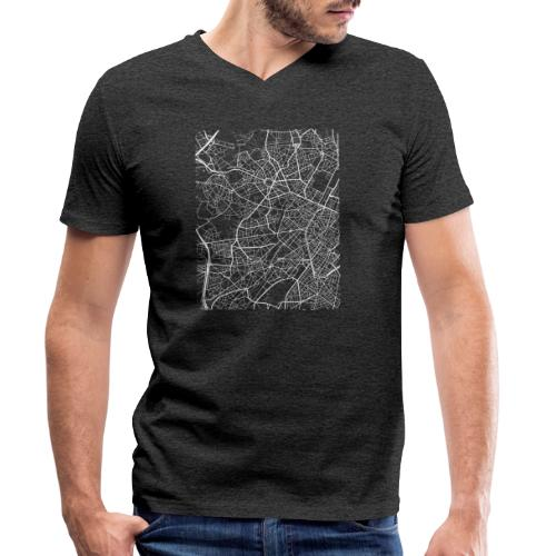 Minimal Molenbeek city map and streets - Men's Organic V-Neck T-Shirt by Stanley & Stella