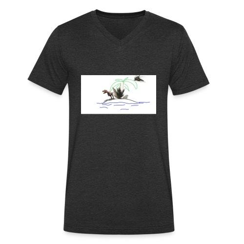 dino - Camiseta ecológica hombre con cuello de pico de Stanley & Stella