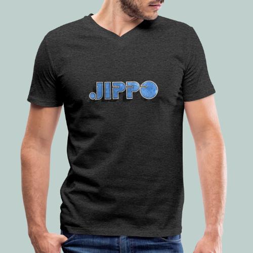 JIPPO LOGO (blue) - Stanley & Stellan miesten luomupikeepaita