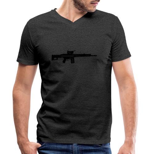HK Gewehr 3 - Automatkarbin 4C - Ekologisk T-shirt med V-ringning herr från Stanley & Stella