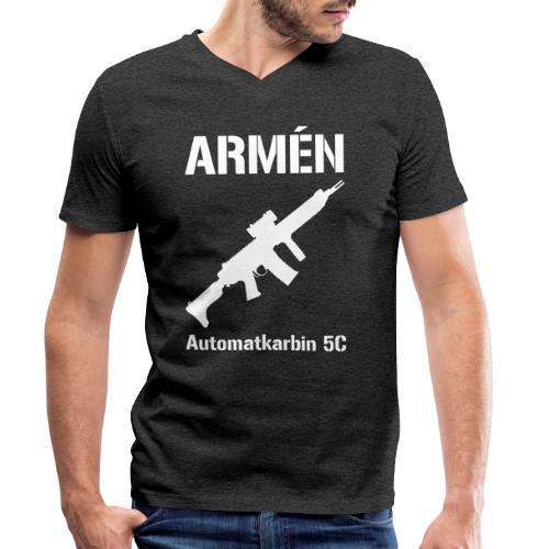 ARMÈN - Ak 5C - Ekologisk T-shirt med V-ringning herr från Stanley & Stella