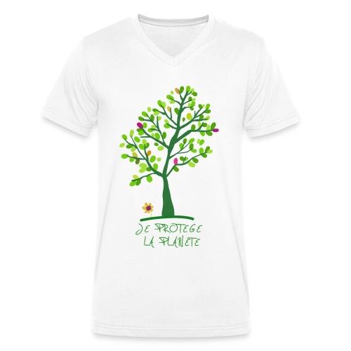 Je protege la planete Arbre - T-shirt bio col V Stanley & Stella Homme