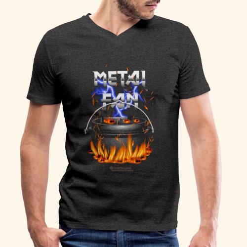 Metal Fan | ▶ Visit Dutch Oven T-Shirts - Männer Bio-T-Shirt mit V-Ausschnitt von Stanley & Stella