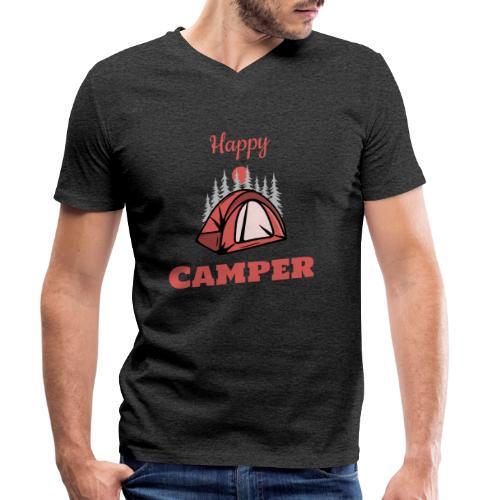 Happy Camper - Männer Bio-T-Shirt mit V-Ausschnitt von Stanley & Stella
