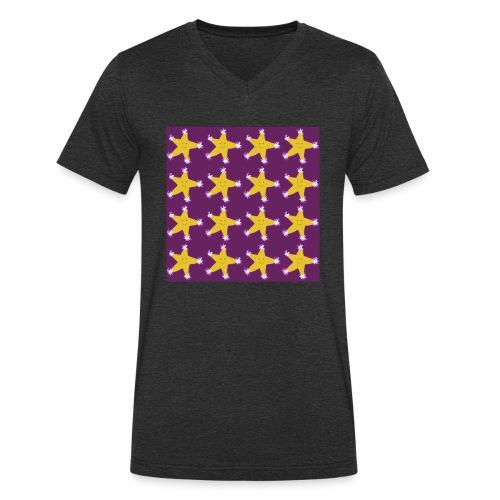 Starry pattern - Men's Organic V-Neck T-Shirt by Stanley & Stella