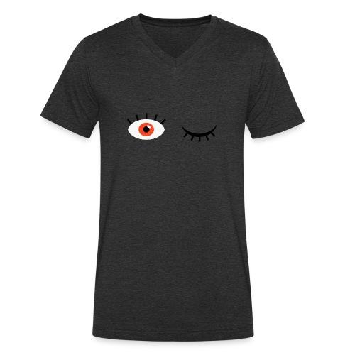 Eye see you - Økologisk Stanley & Stella T-shirt med V-udskæring til herrer