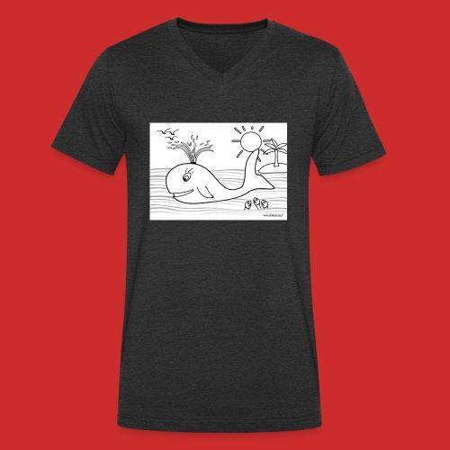 disegno_balenotta_da_colorare-jpg - T-shirt ecologica da uomo con scollo a V di Stanley & Stella