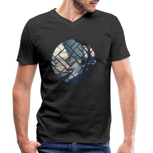 Ocean Sailing Graphic Design - Männer Bio-T-Shirt mit V-Ausschnitt von Stanley & Stella