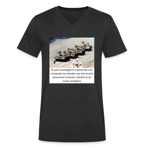 Volontà - T-shirt ecologica da uomo con scollo a V di Stanley & Stella