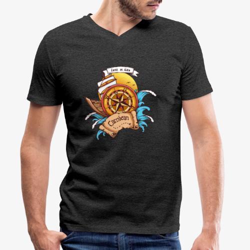 Verschwunden auf See - Männer Bio-T-Shirt mit V-Ausschnitt von Stanley & Stella