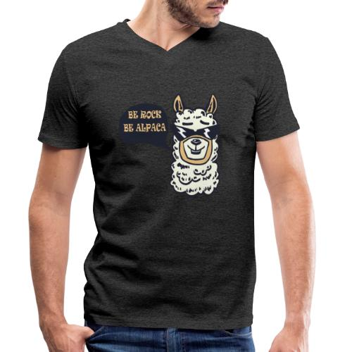 be Rock be Alpaka - T-shirt ecologica da uomo con scollo a V di Stanley & Stella