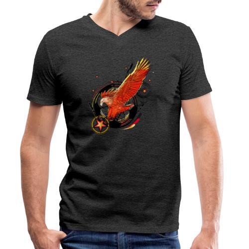 Adler mit Deutschland Stern - Männer Bio-T-Shirt mit V-Ausschnitt von Stanley & Stella